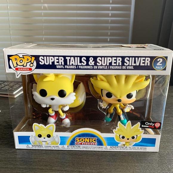 Funko Pop Sonic Super Tails Super Silver